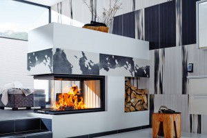 Spartherm 3 side glass in fireplace
