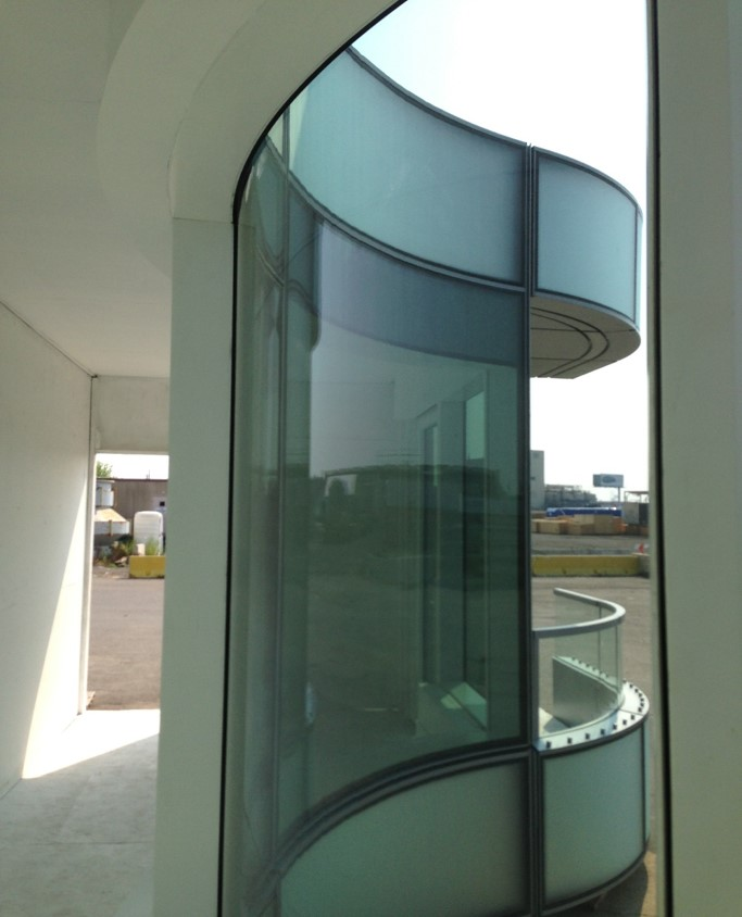 Hot bent glass mock-up